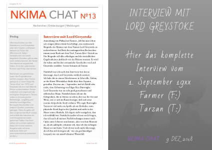 EXKLUSIV INTERVIEW MIT LORD GREYSTOKE